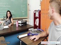 chesty teacher Holly West pound in classroom Thumb