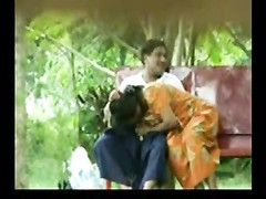 daring Desi Aunty deep-throats and plumbs outside on Park Bench Thumb