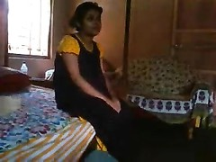 Bangla desi bhabi Rima hold a risk to showing Devar Thumb