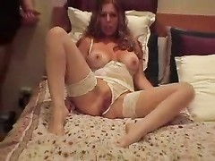 milf lets him jack off on her face Thumb