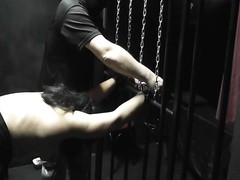 amateur sex slave Marion gets gang plumbed and dominated by several strangers at the private dungeon Thumb