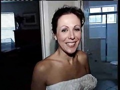 gorgeous milf with fantastic large boobies takes a shower Thumb