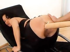 Bat and knuckle  up her inexperienced ass hole Thumb