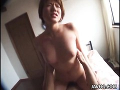 This buxomy bitch Maki Hoshino indeed  has it all with a benign caboose  and an fantastic pair of tr Thumb