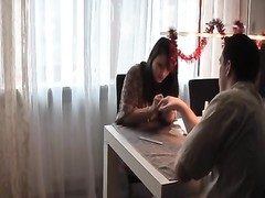 German inexperienced Brunette nailed on Kitchen-Table Thumb