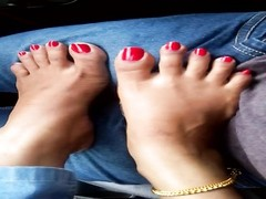 Indian feet crimson  toenails teasing fj Thumb