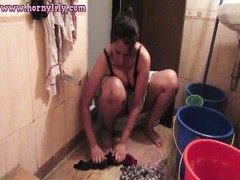 sexy Indian honey  Bhabhi Lily Washing Undergarments Thumb