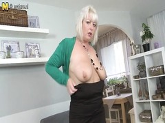 burly stale mother nailing and sucking Thumb