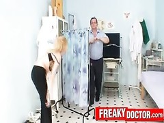 big-titted blondie Bella Karina dislikes odd gyno doctor exam Thumb