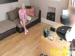 MisterFake blondy college dame conned into deep mouth  screw Thumb