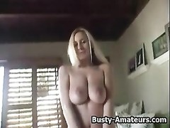 big-boobed doll  Autumn on hot striptease demonstrating her asset Thumb