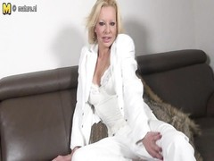 sexy naughty blonde mom playing with her toy Thumb
