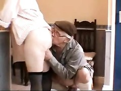 Very scorching white haired Grandpa and wife Thumb