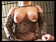 GERMAN yellow-haired BBW WITH big bra-stuffers smashed ON A PICK-UP Thumb