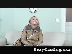 Casting - cute as a button blondie has a hardcore practice Thumb