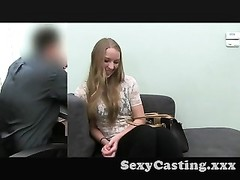 Casting blonde inexperienced ravages in casting Thumb