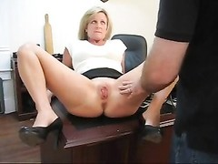 Caught playing with her snatch punishment for his secretary Thumb