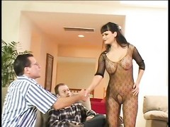 big hooter stunner in bodystocking enjoys tough ass-fuck Thumb