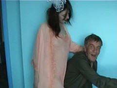 Bum is nailing a very perverted Russian girl in the porch Thumb