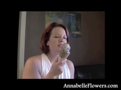 Redhead milf Annabelle Flowers eats an ice cream in a sexy way Thumb