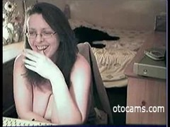 Nerdy wife with huge boobs on webcam Thumb