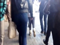 HIDDEN CAM young ADULT STREET tasty donk IN jeans Thumb