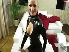 yellow-haired latex amateur poked Thumb