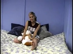Gorgeous beauty pornstar is getting topless in the bedroom Thumb