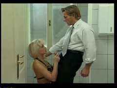 Bleached tramp with perfect body Silvia Saint fucks in the public toilet Thumb