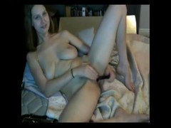 Hairy pussy brutaly penetrated by dildo Thumb