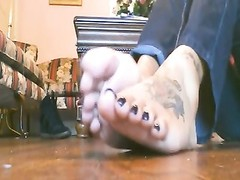 Sexy Ebony Long Toenails and Soles Thumb