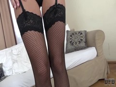Hot Cristal Caitlin teasing pussy gets ready for gangbang Thumb