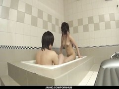 Japanese doll blows cock in the tub and swallows a warm load Thumb