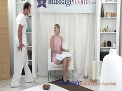 Massage Rooms Shy young girl enjoys cream pie in her tight hole Thumb