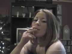Smoking hot babe is getting on the knees and taking a dick Thumb