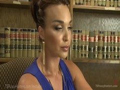 Hot TS Attorney Ass-Fucks Penny Barber Thumb