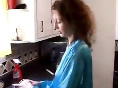 Housewife in satin robe fucked at home Thumb