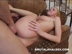 Frenchie has her tight ass spanked and fucked hard Thumb