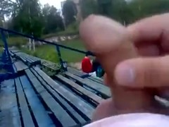 Pulling out and wanking in the public place at the playground Thumb
