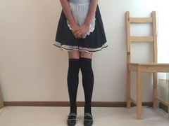 Cute Japanese Maid Pees Herself Thumb