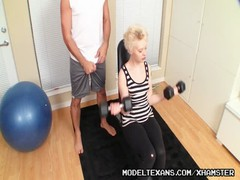Perverted Trainer Grooms Petite Blonde Spinner Girly Thumb