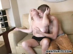Amateur girlfriend sucks and fucks with cum in mouth Thumb