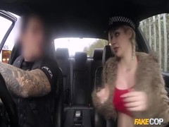 Busty young blonde is blowing his dick like a pro Thumb