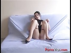 French casting with accidental creampie !!!! French amateur Thumb