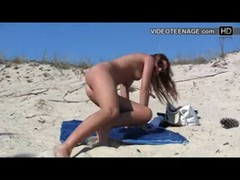 nudist teen at beach Thumb