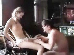 Lusty girl in pigtails fucks older man Thumb