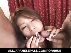 Haruka Sanada busty has shaved crack and mouth fucked same time Thumb