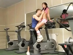 Adorable girl hardcore in the gym Thumb