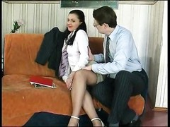 His secretary takes his hard cock Thumb
