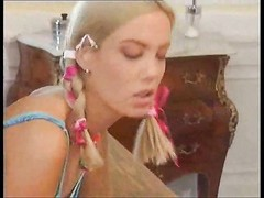 Tasty Euro teen in pigtails rammed hard Thumb